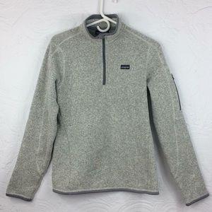 Patagonia grey knit/fleece longsleeve popover-M